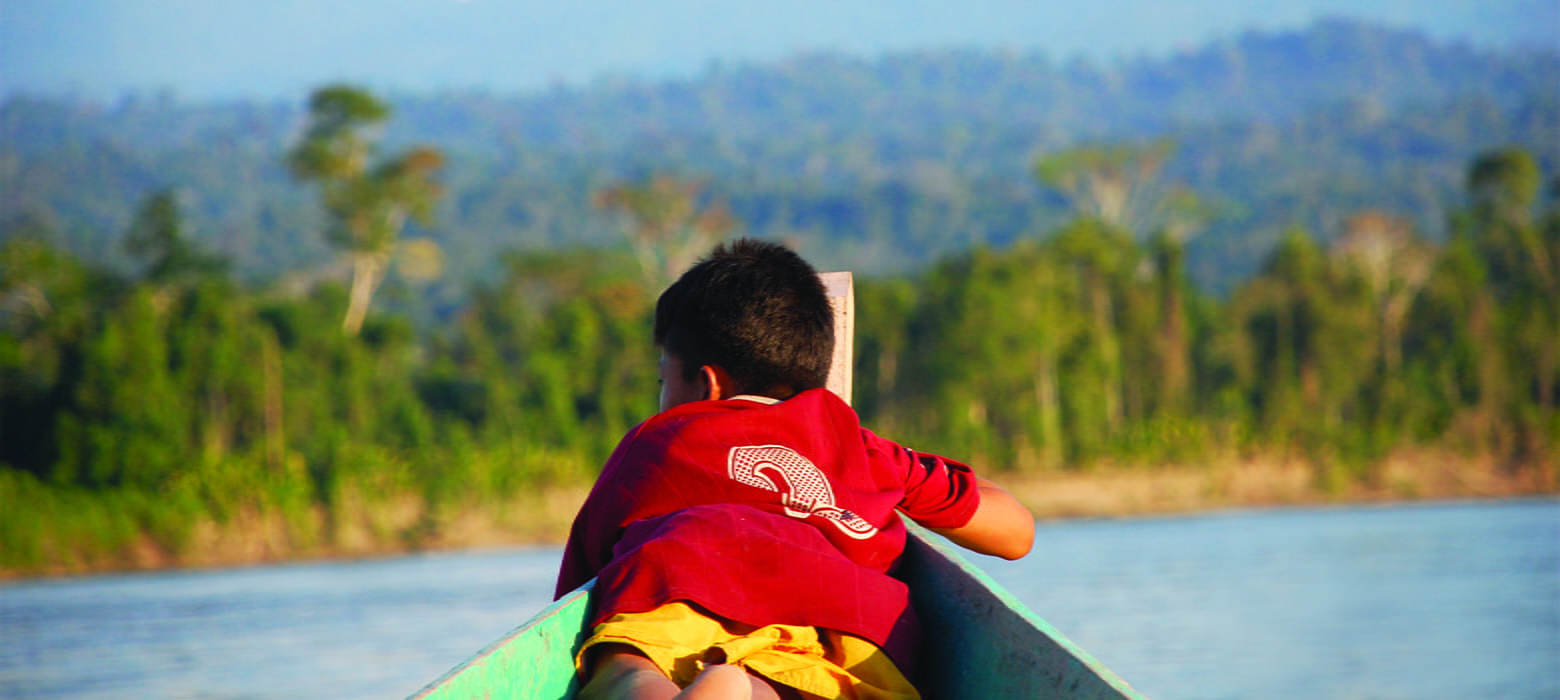 Boy Boat Nature Water Rainforest