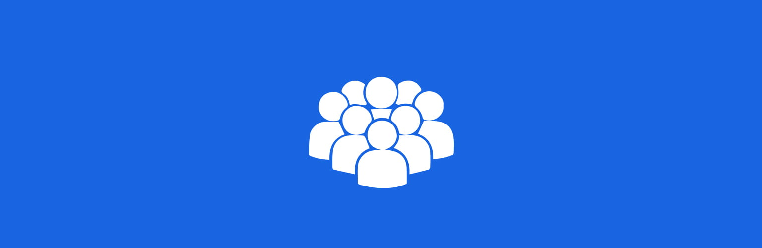 People White Icon Blue Background