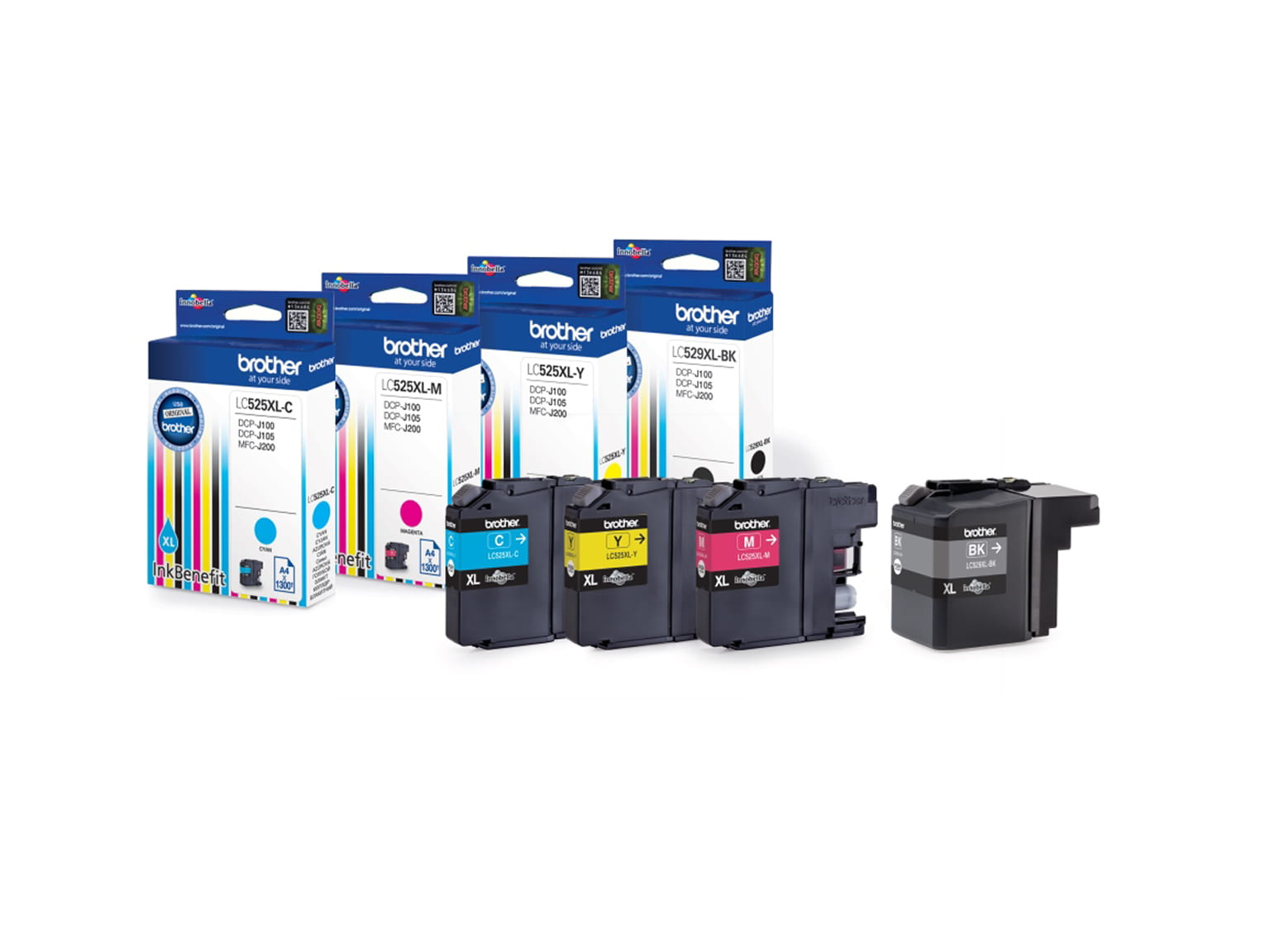 CMYK Inkjet Cartridges Brother