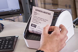 Wide format shipping/barcode label printer