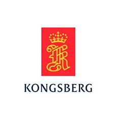 Kongsberg Maritime logo on white background