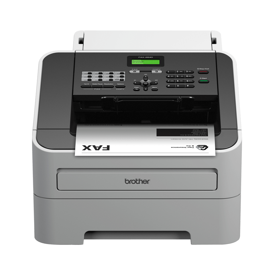 Fax 2840 High Speed Mono Laser Fax Machine Brother Uk