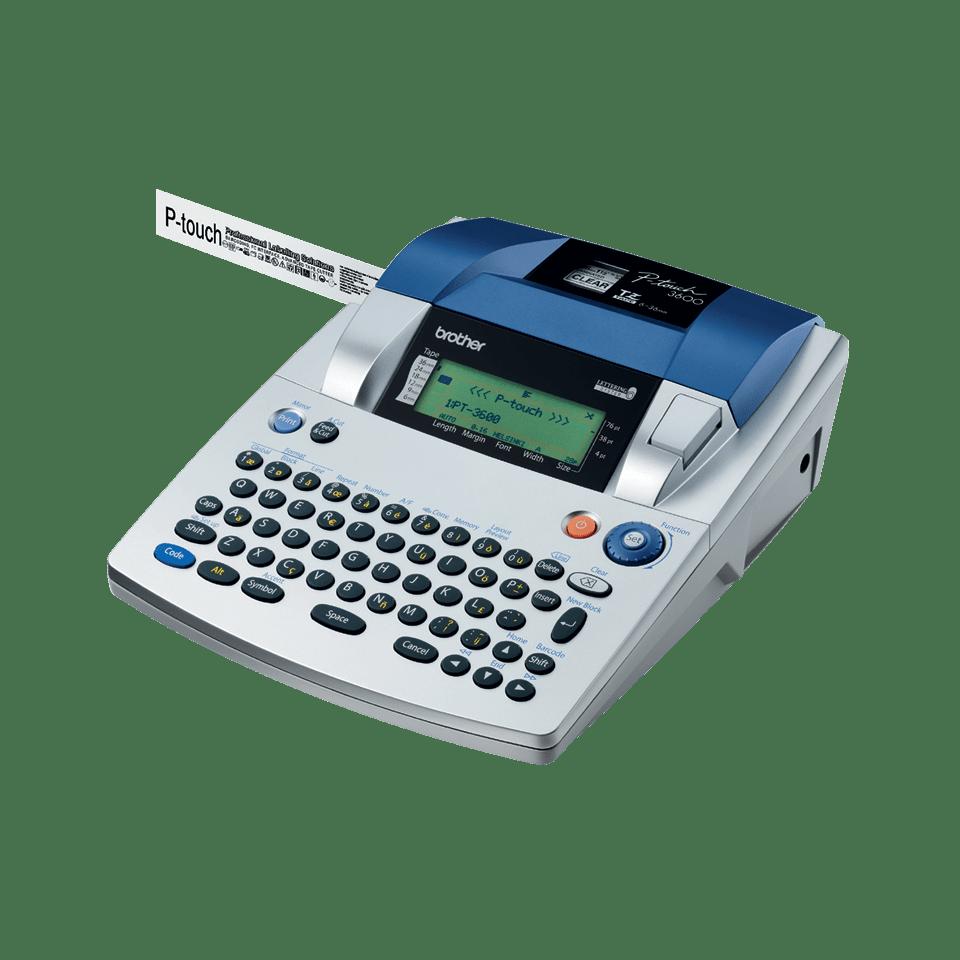 Pt 3600 Professional High Volume Label Printer Brother Uk Tape Tze S241 18mm Black On White