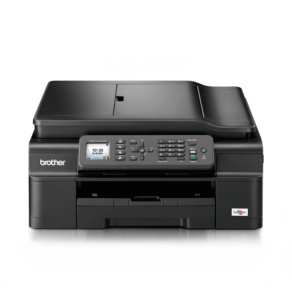 Mfc j470dw all in one inkjet printer duplex fax and for Best home office inkjet printer