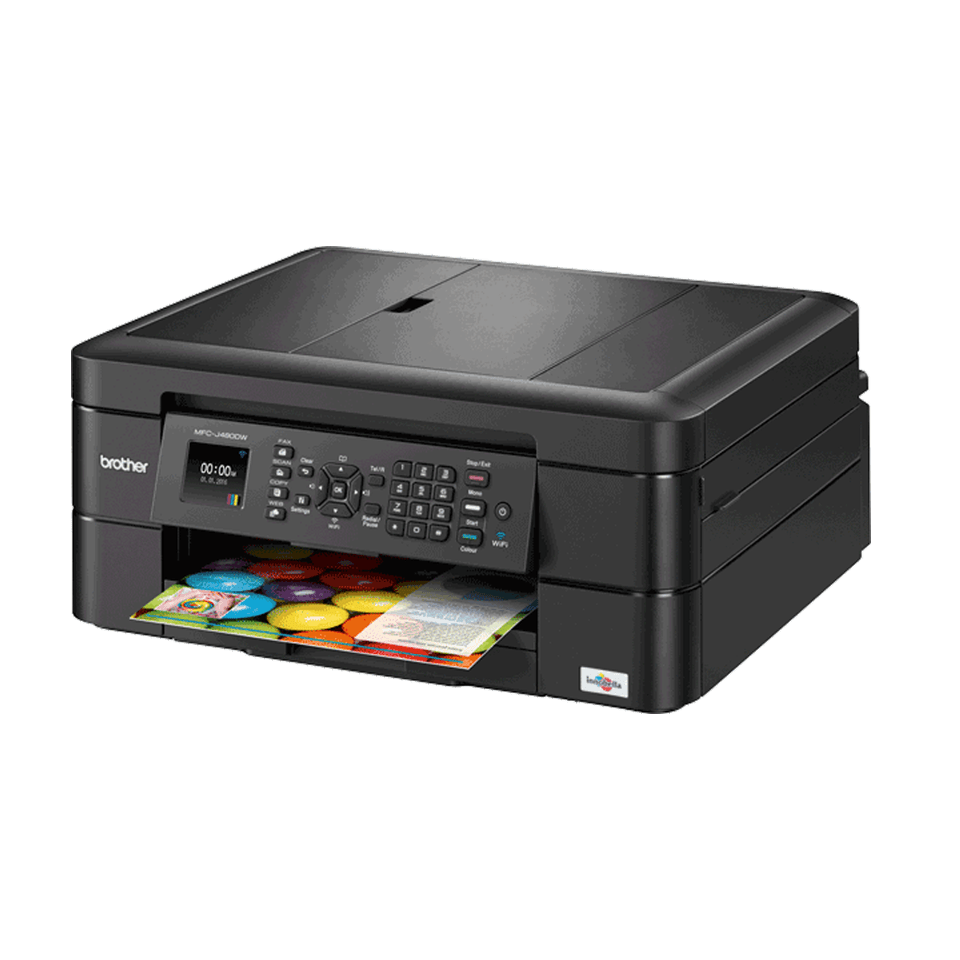Brother MFC-J480DW Wireless Inkjet Color All-in-One Printer w Auto Document...