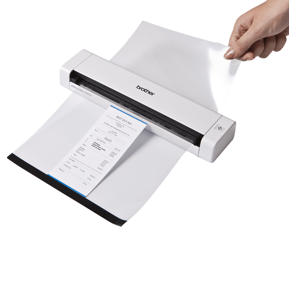 Ds 620 portable document scanner brother uk for Document scanning software for home use