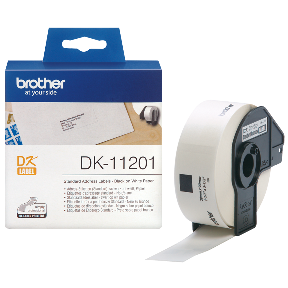 5x kompatible Adress Etiketten Rollen für Brother P-Touch QL 700 D Solutions Off