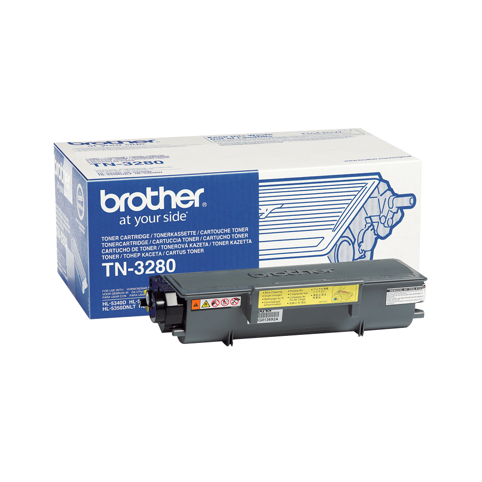 Genuine Brother TN3280 High Yield Toner Cartridge – Black