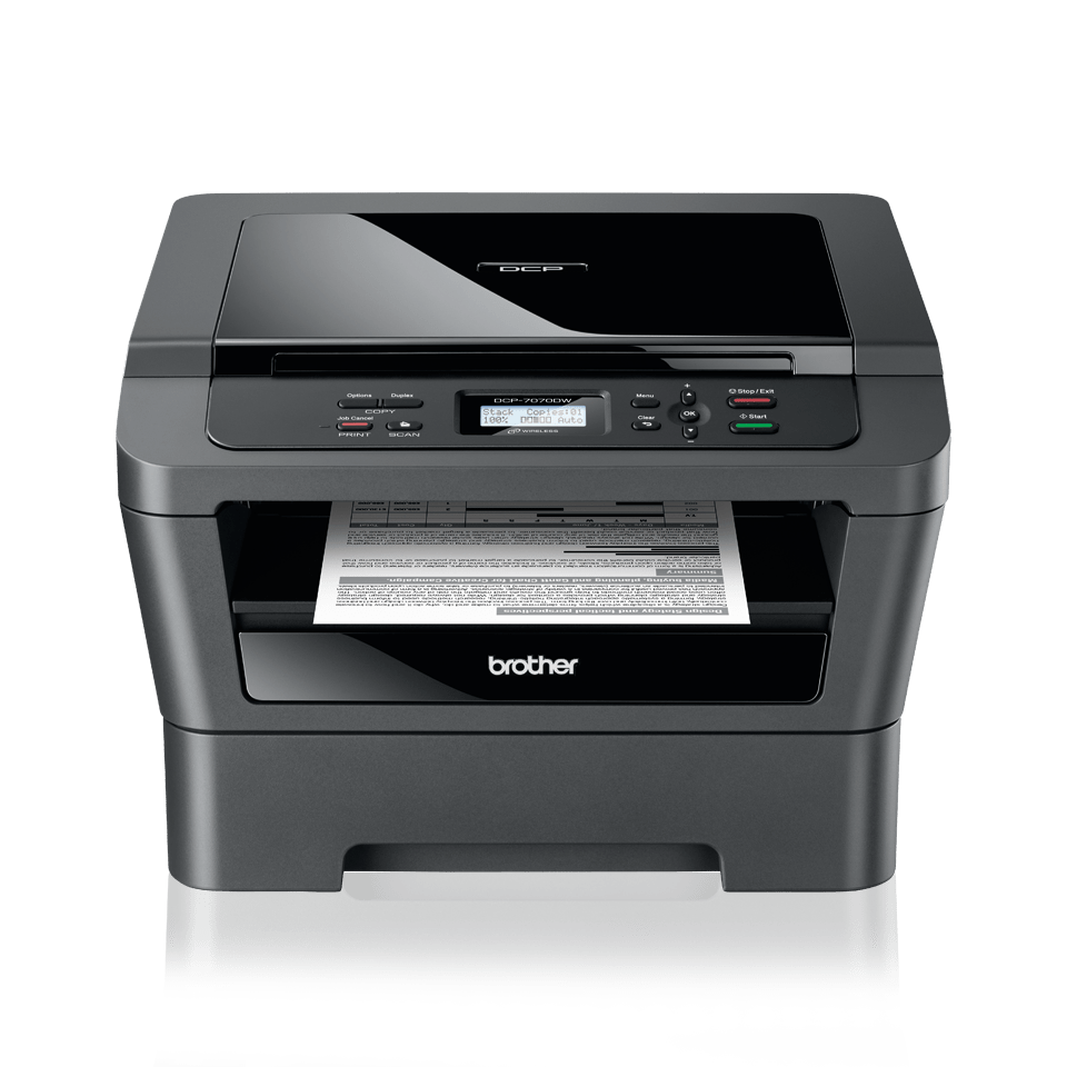 Dcp 7070dw mono laser all in one duplex network for Best home office multifunction laser printer