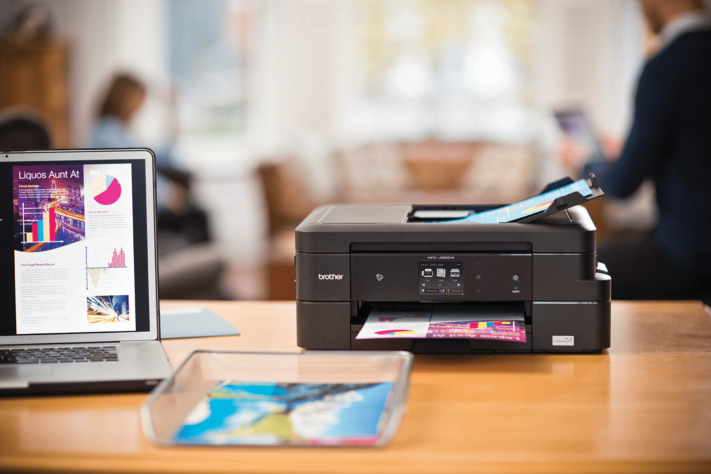how to use nfc to print on a brother printer