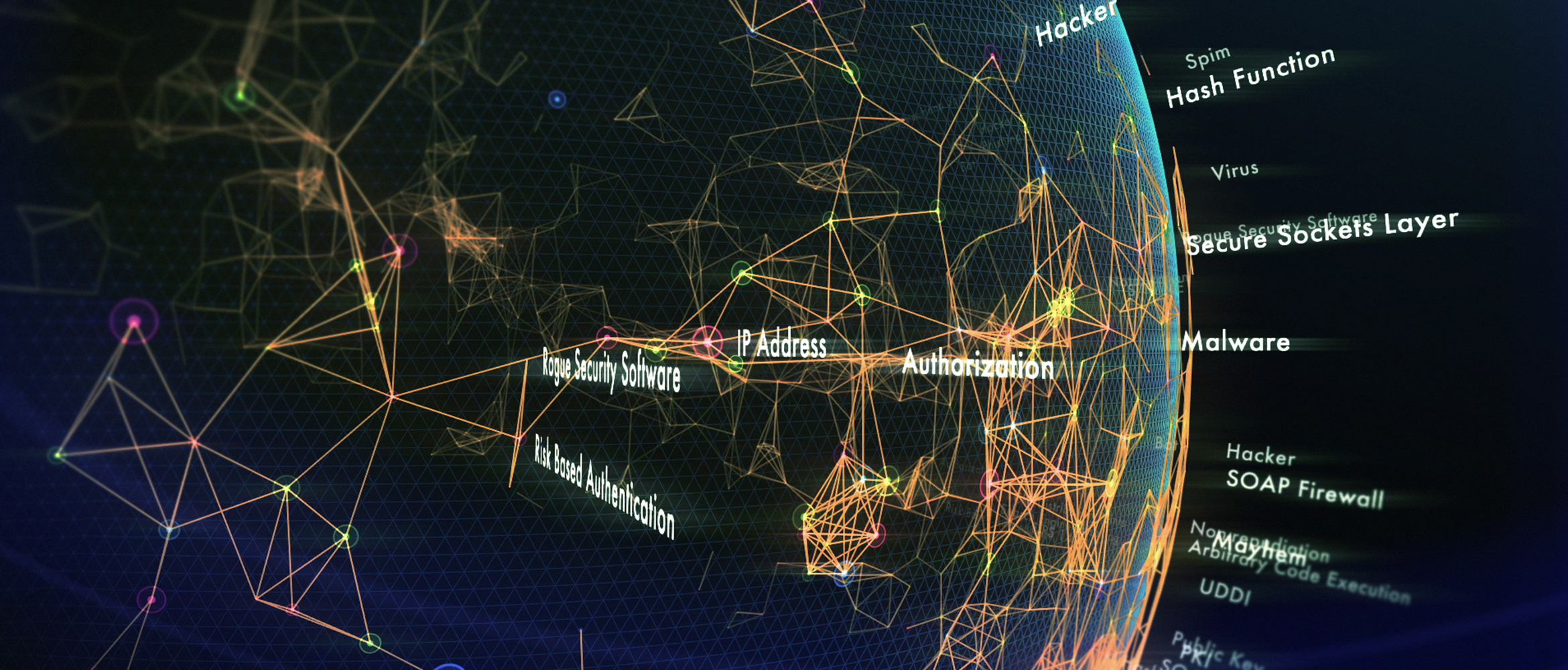 Digital data travelling around a globe