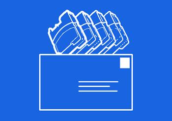 Cartridges Envelope Return Icon