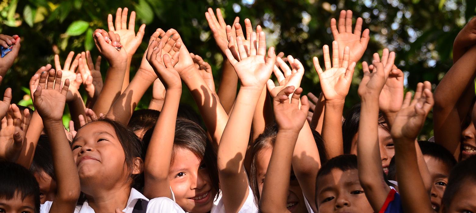 Awajun Children Urakuza Happiness Hands Up Smile