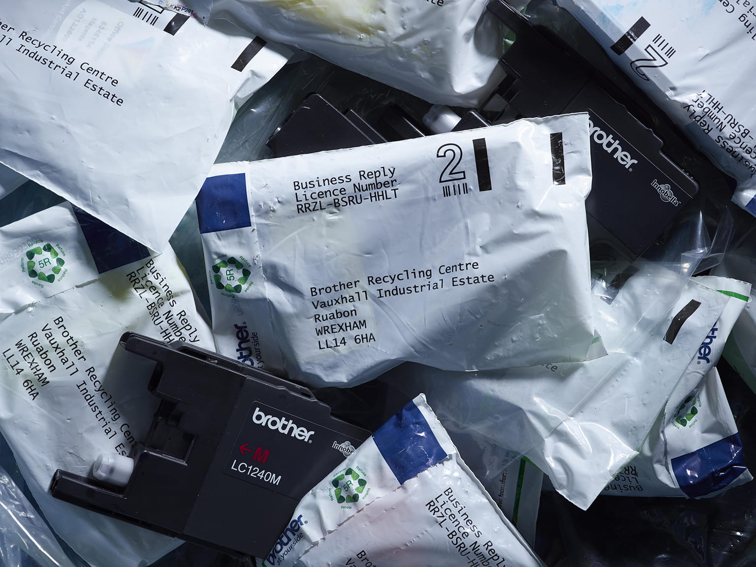 Labelled Envelopes Recycling Inkjet
