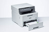 DCP-L3510CDW colour printer with paper tray open