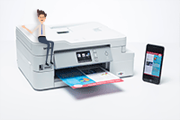 Mobile phone printing on DCP-J1100DW