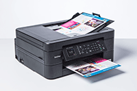 MC-J491DW with documents in paper tray and ADF