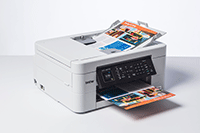 MFC-J497DW with documents in ADF & paper tray