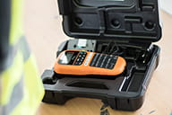 PT-E110VP comes with carry case, AC adapter and tape cassette