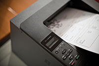 Put put coming out of laser printer