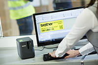 Brother PT-P900W label printer with P-touch Editor industrial label design software