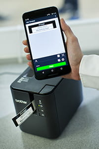Brother PT-P900W label printer with iPrint&Label label printing app