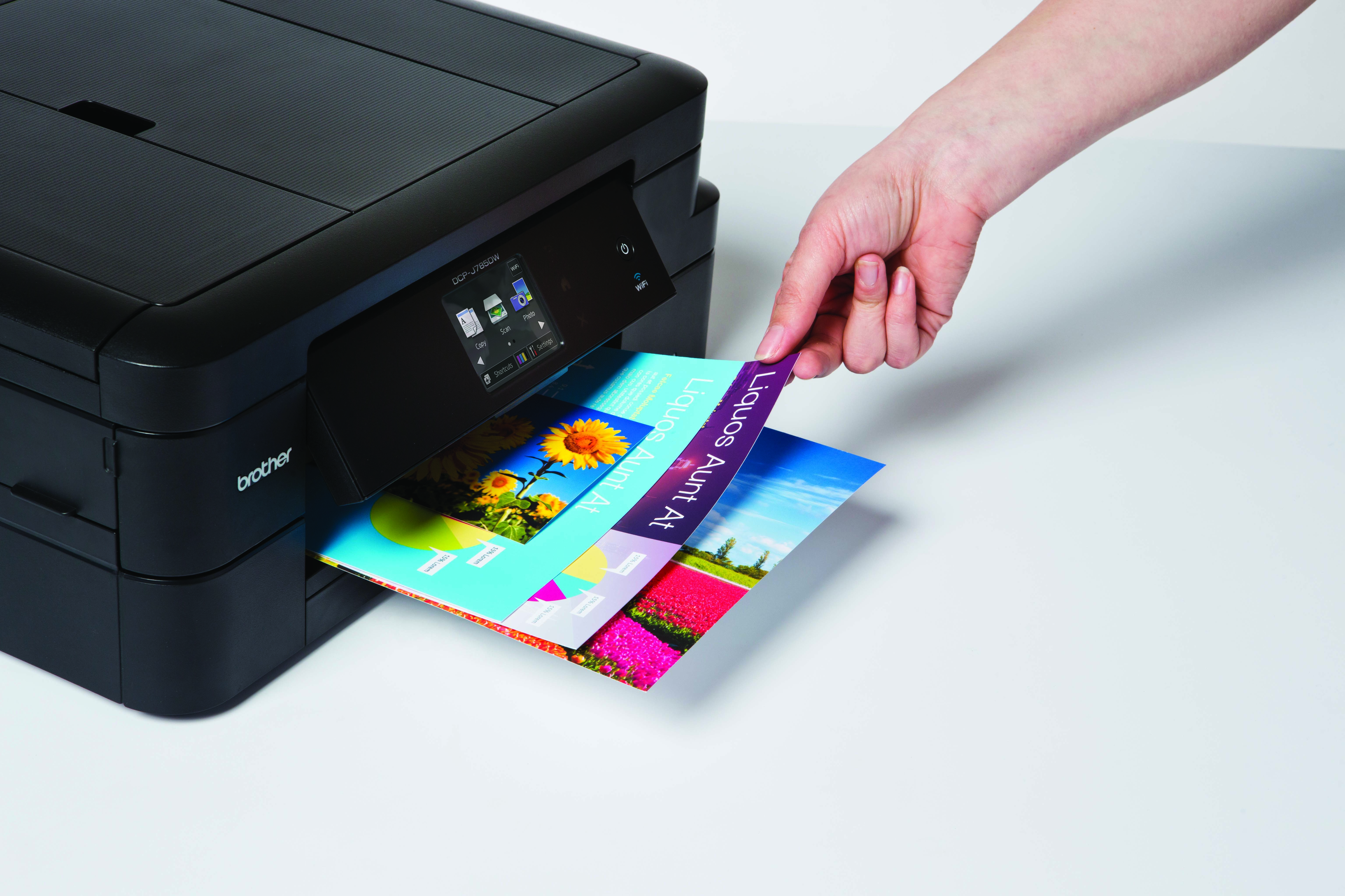 DCP-J785W collecting print job