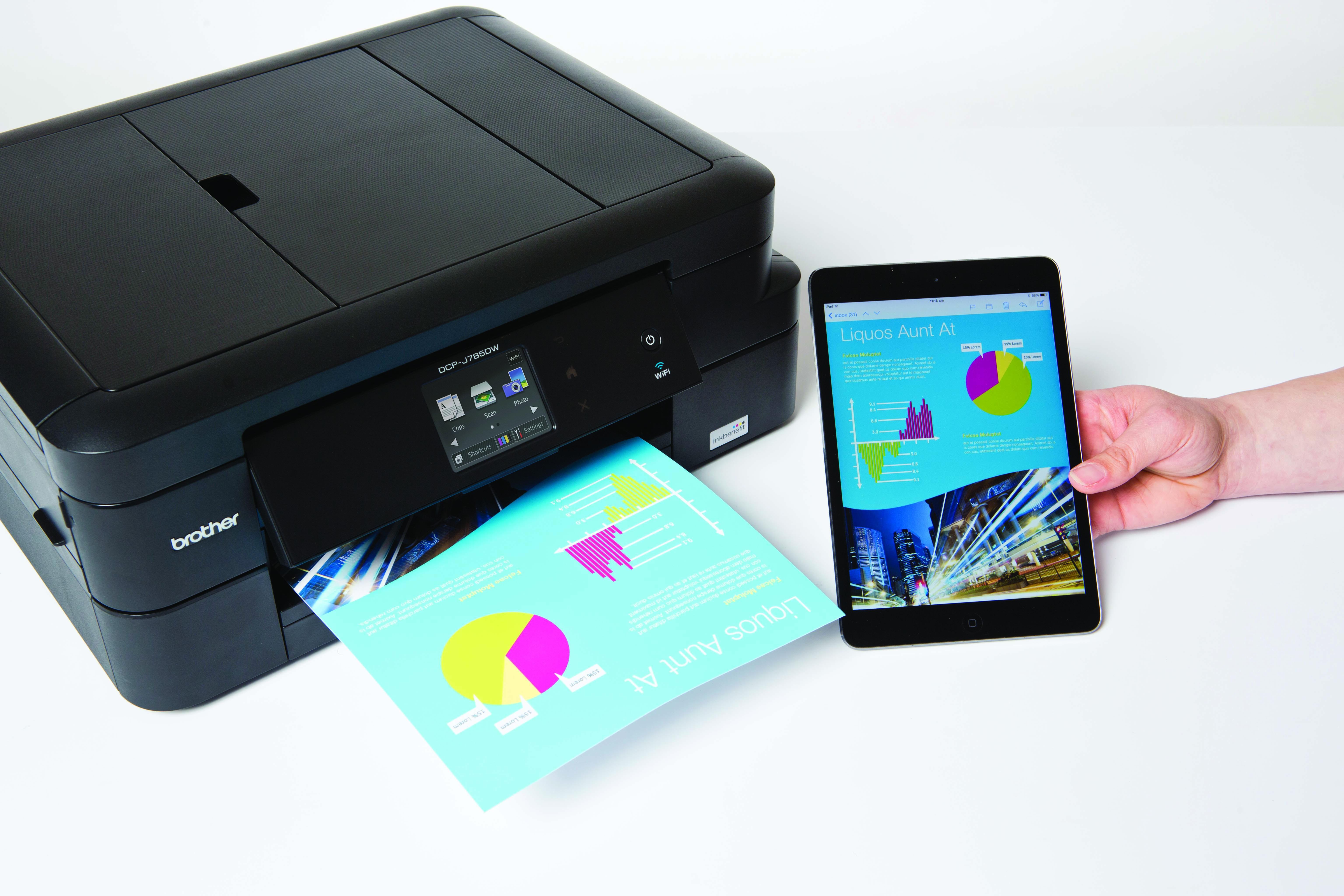 DCP-J785W mobile printing