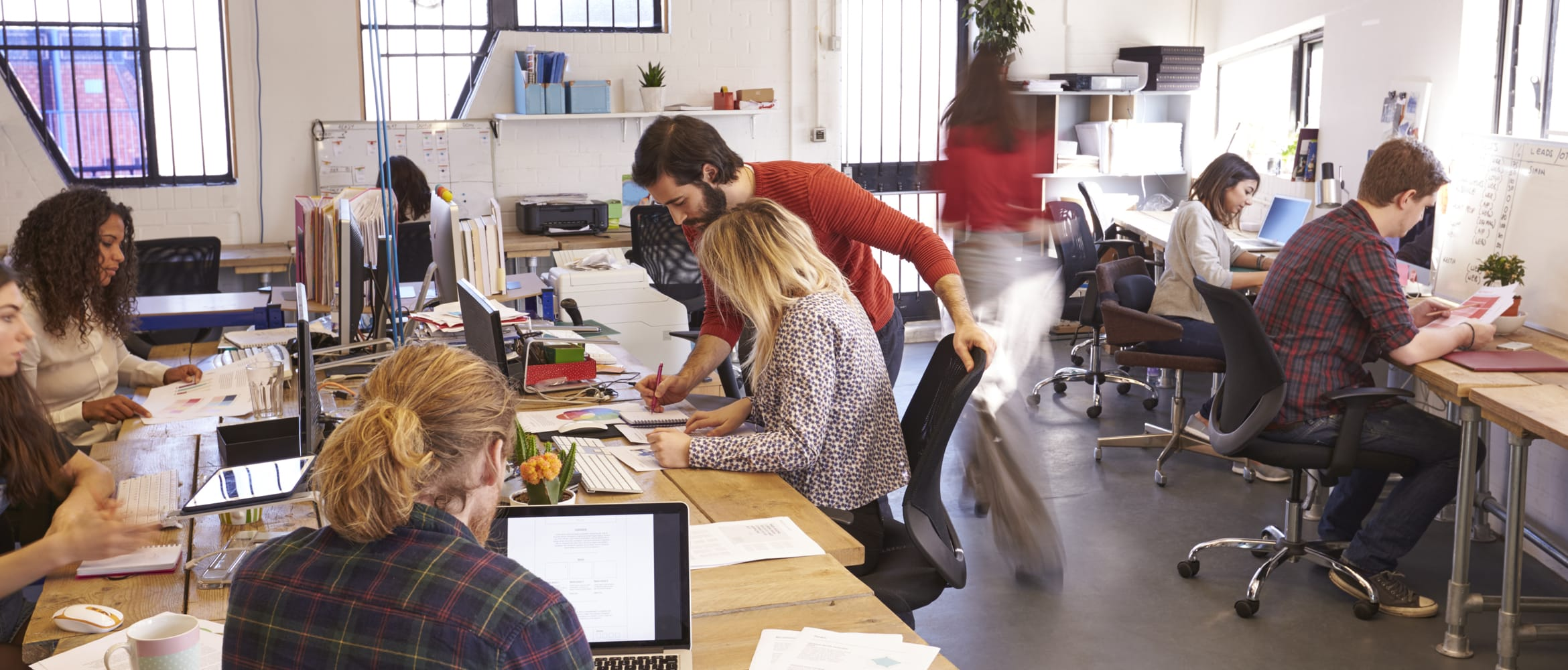 Employees in an SMB office