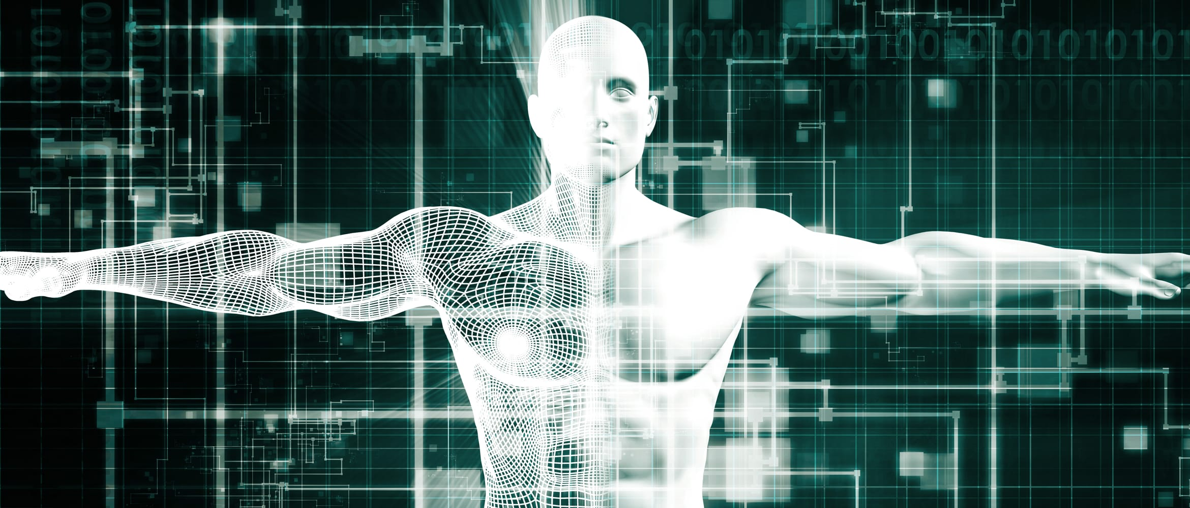 holographic representation of human body to highlight digital analytical advances in healthcare