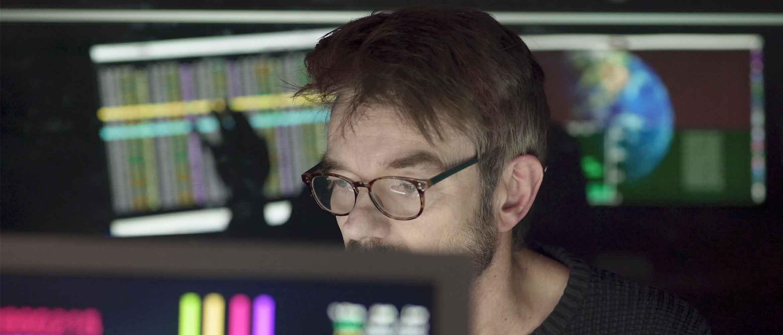 Man sat at a computer