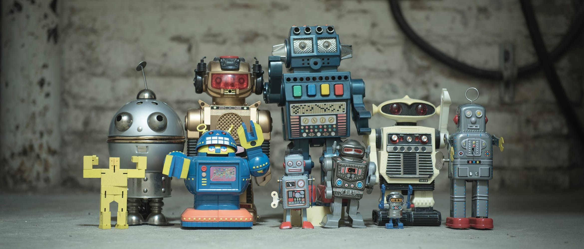 A collection of retro robots