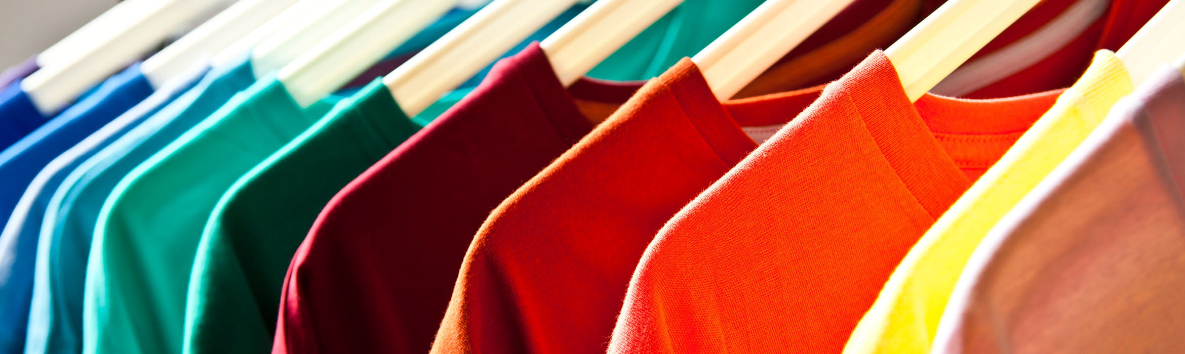t-shirts on a retail clothes rail