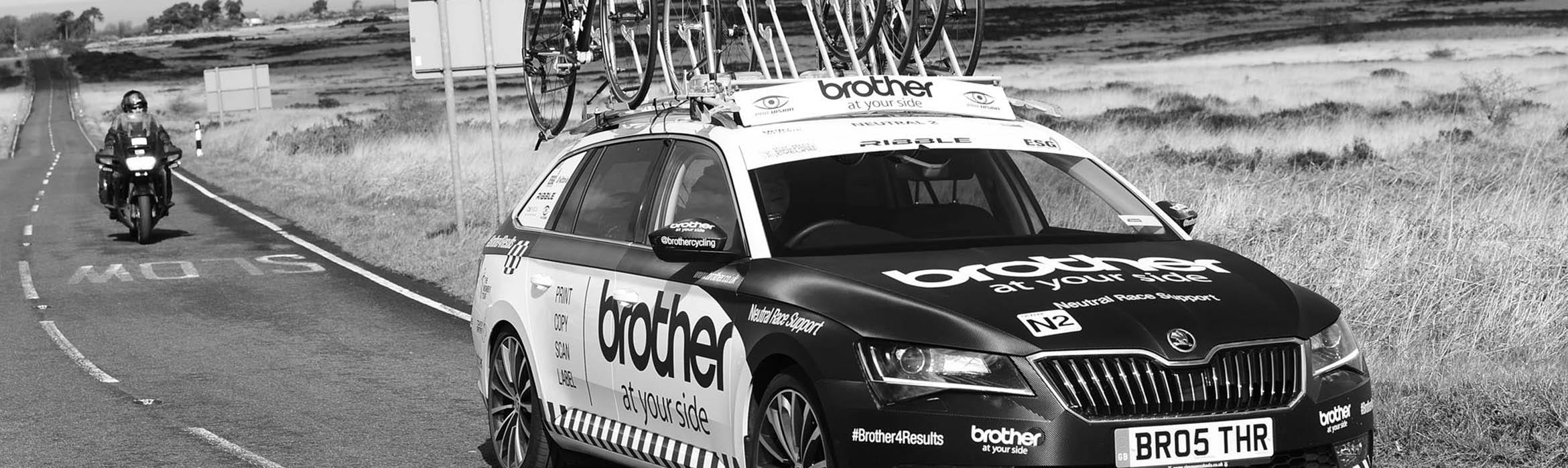 brother cycling support car