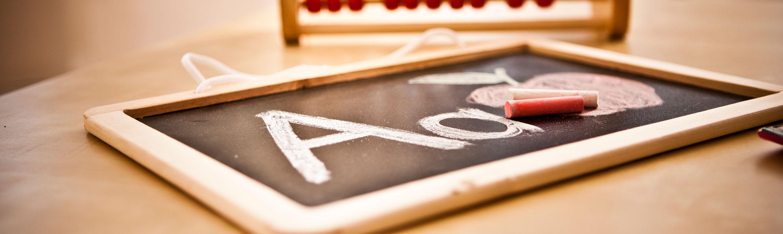 chalk board in an educational setting