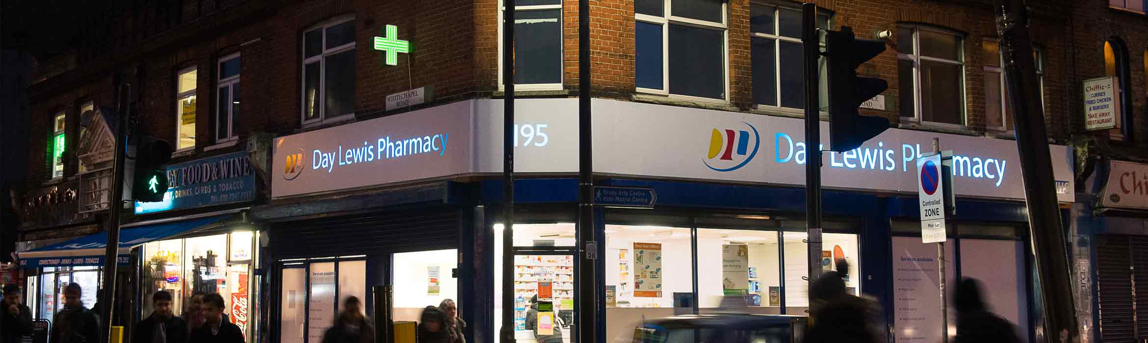 day lewis pharmacy shop front with managed print services