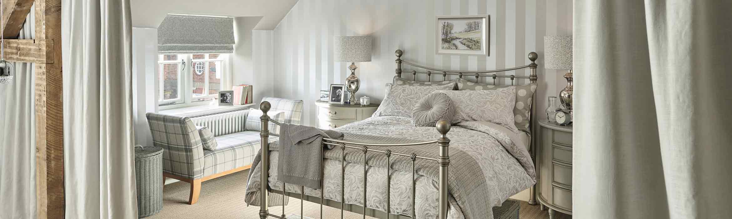 Bedroom kitted out with Laura Ashley furniture