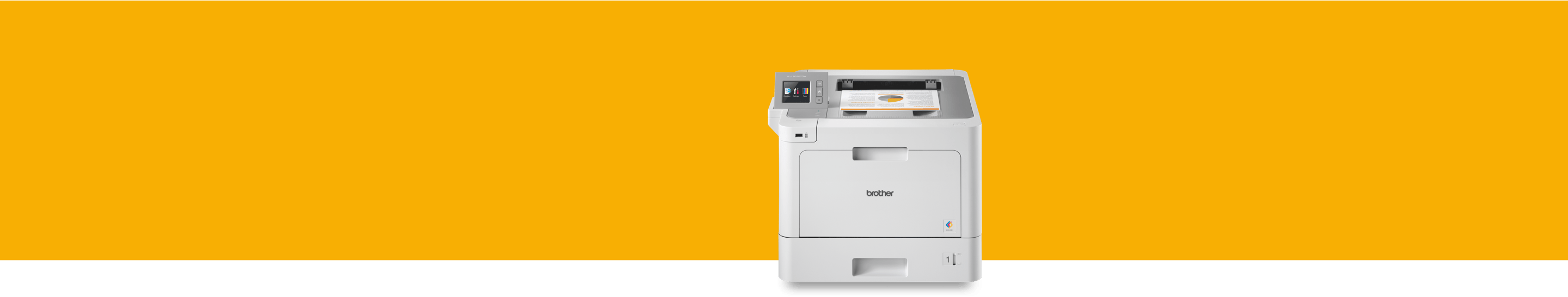 colour laser printer on an orange background