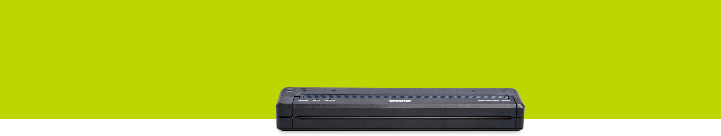 Pocketjet printer on a green background