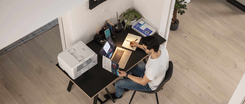 inkjet printer MFC-J895DW sat on table
