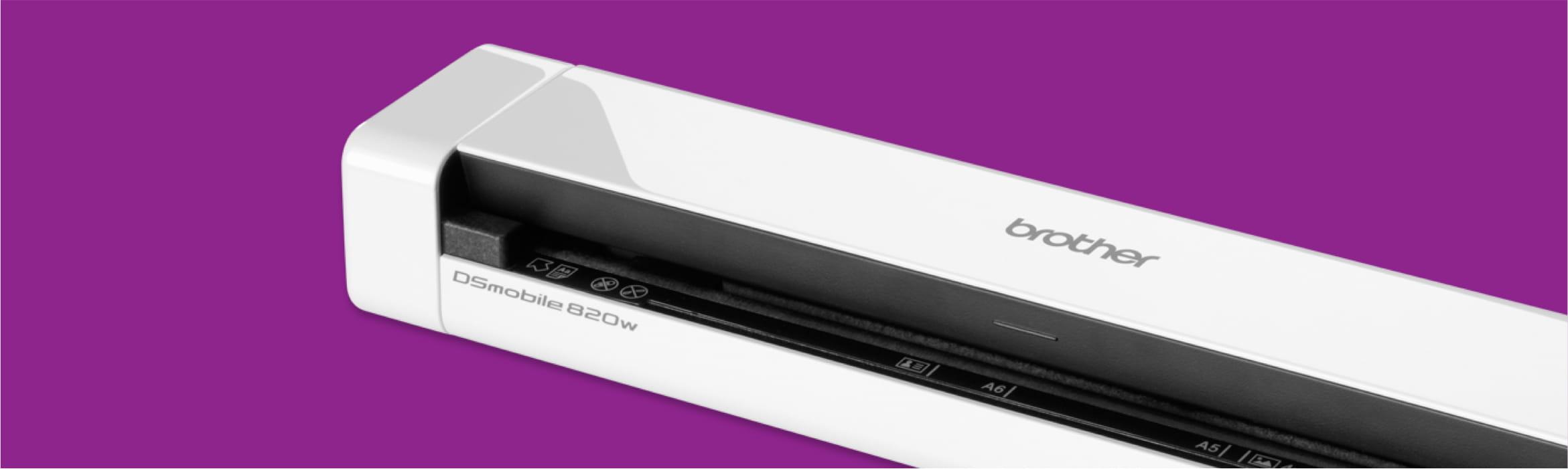 scanner on purple background