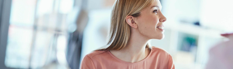 woman listening