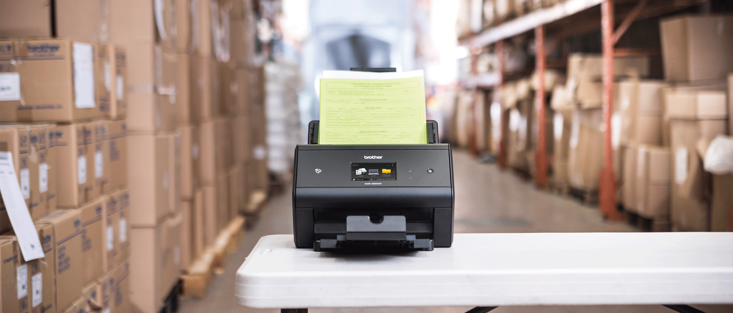 ADS-3600W in warehouse envrionment