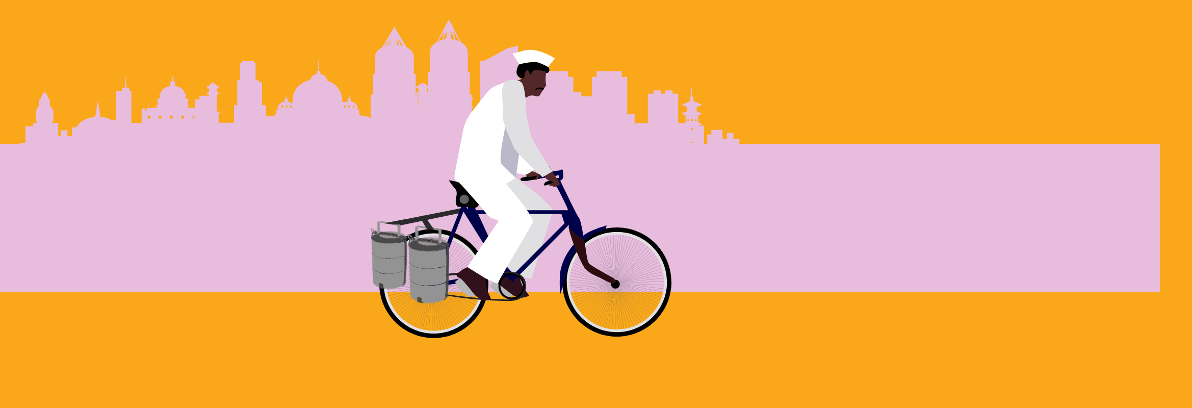 animation of a dabbawala delivery