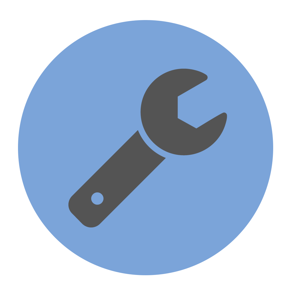 Field service blue spanner icon