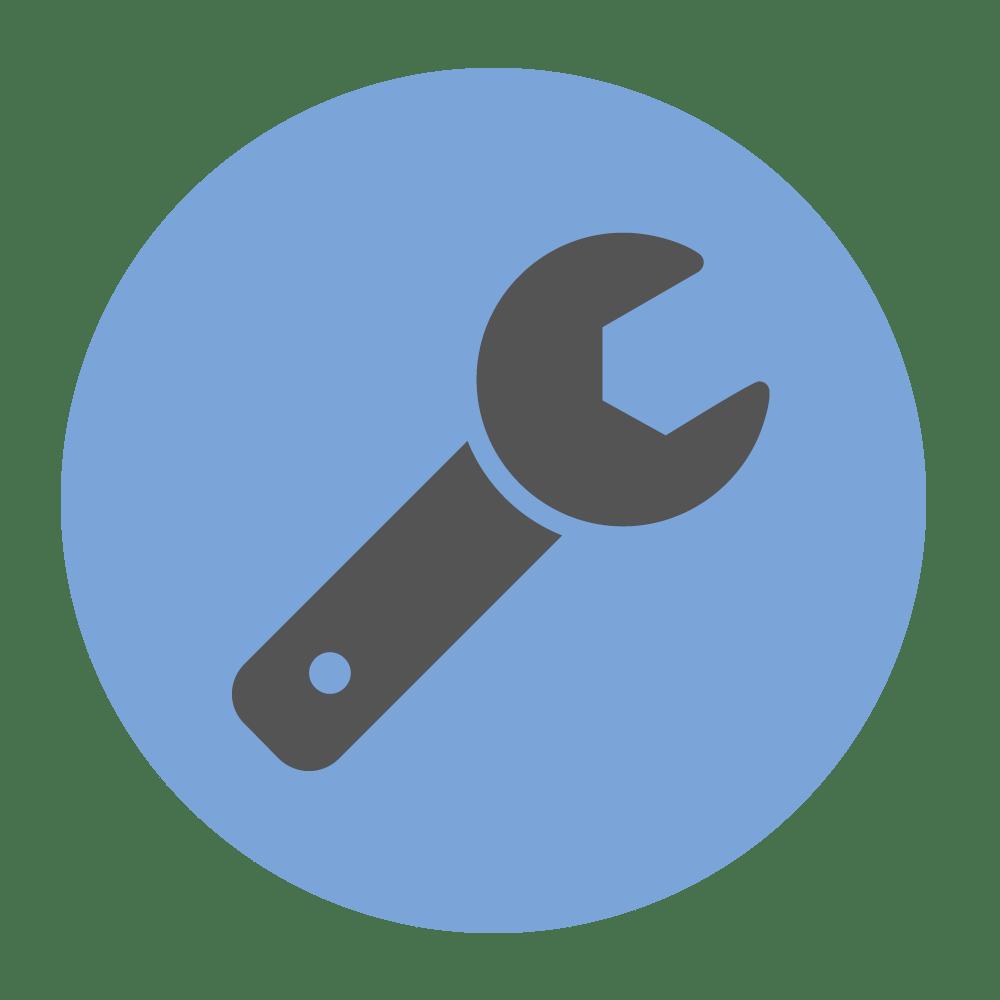 Field service blue spanner icon