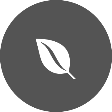 White leaf on a grey circle background
