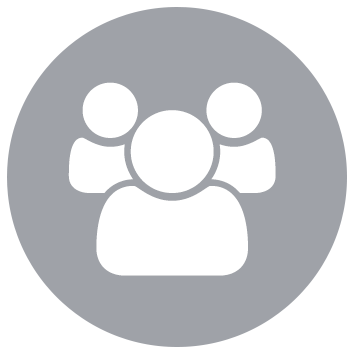 people icon on grey background