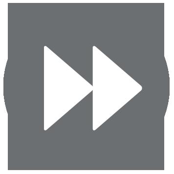 Fast forward icon on grey background
