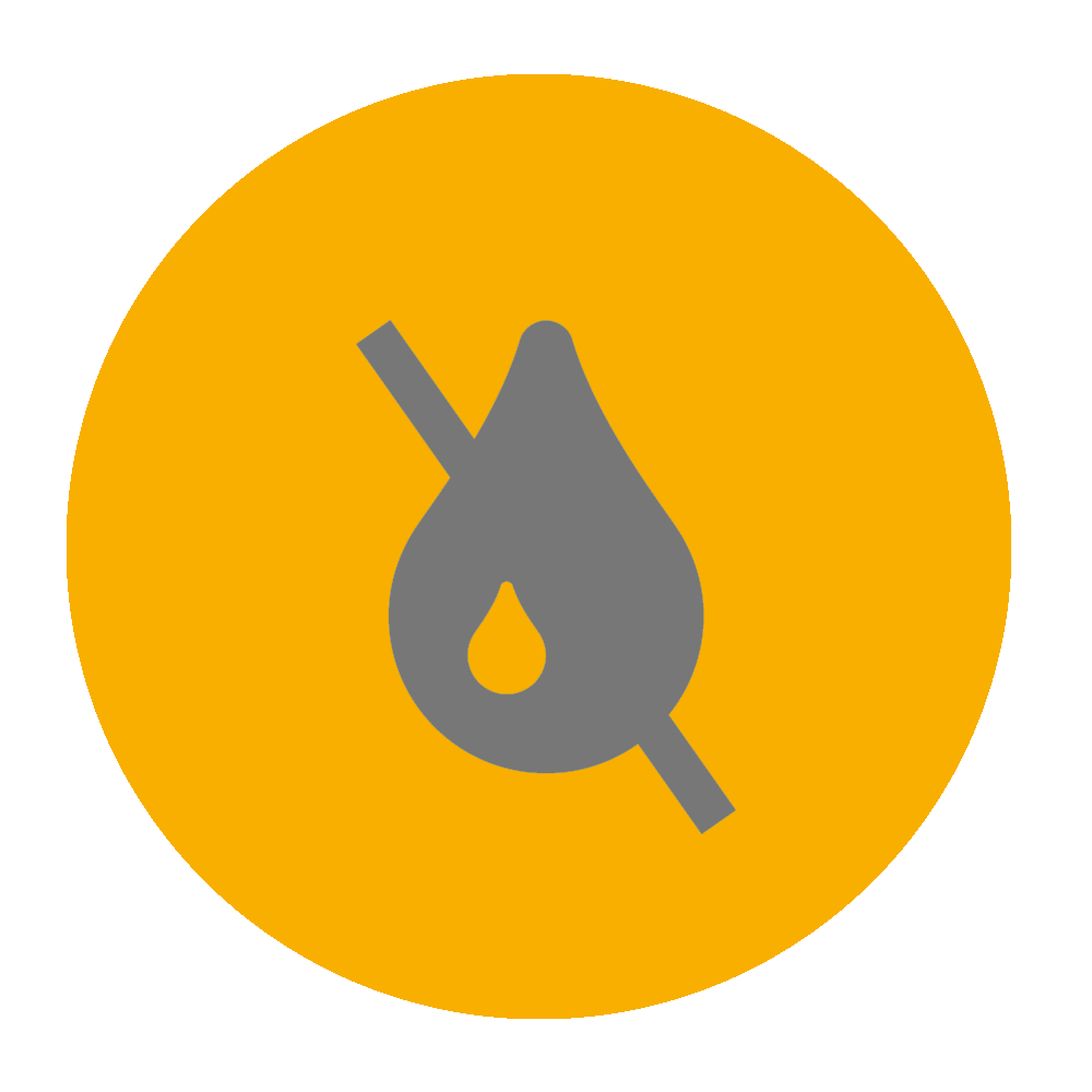 No ink icon on yellow background